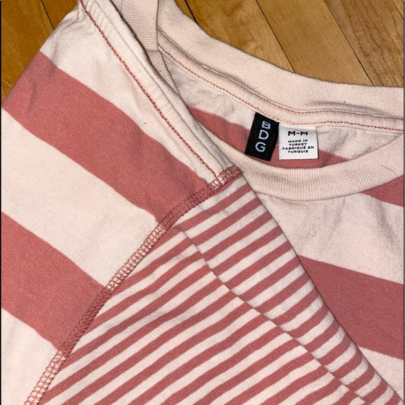 Urban Outfitters Tops - Pink striped BDG tee!